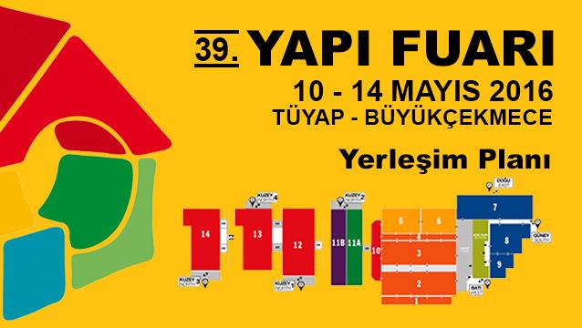 39. İstanbul Yapı Fuarı Yerleşim Planı