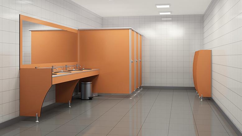 WC Kabin (Cubicles) Kullanımında Etkili Hijyen İçin: Kompakt Laminat