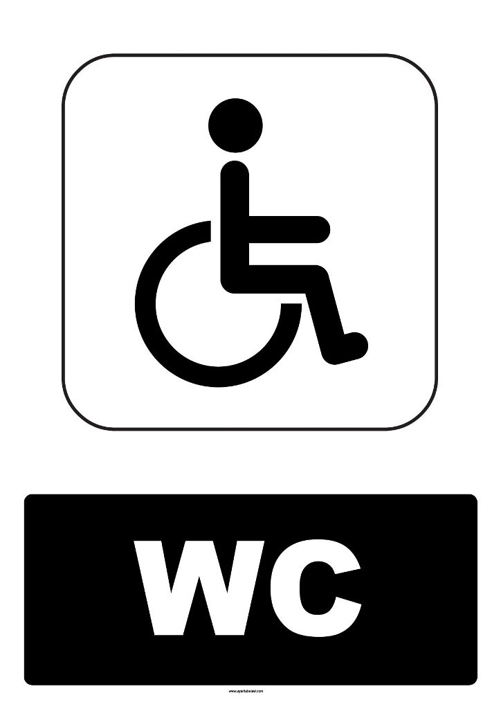 Engelli WC Tabelası